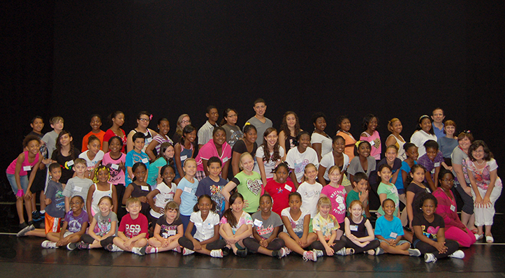 summer camp group picture at union county dance centre